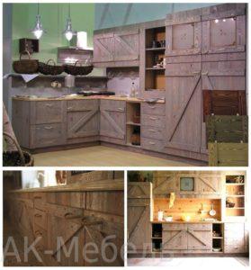 Фасады для кухни из массива сосны