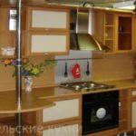 Кухня рамка с барной стойкой