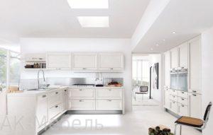 Белая кухня крашенный МДФ эмаль, на заказ
