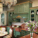 Зеленые кухни в классическом стиле