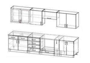 3D проект, чертеж кухни из пластика