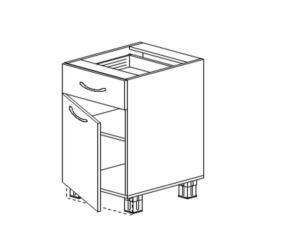 Напольный 1 ящик