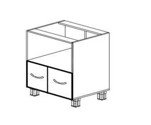 Напольный под микроволновку с 2-мя ящиками