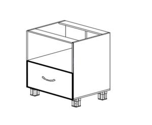 Напольный под микроволновку с ящиком