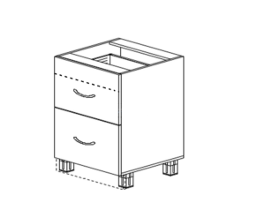 Шкаф напольный со скрытым ящиком
