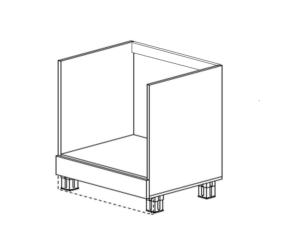 Шкаф под духовку с ящиком