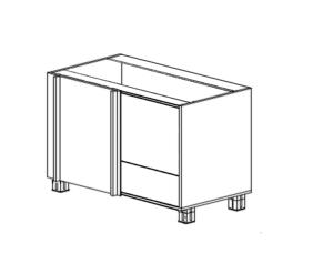 Шкаф угловой прямой для мойки