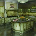 Зеленые кухни в стиле барокко