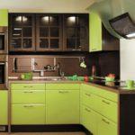 Маленькие зеленые кухни