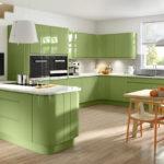 Большие зеленые кухни
