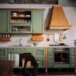 Прямые зеленые кухни
