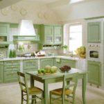 Зеленые кухни кантри