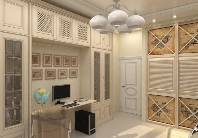 Шкаф в комнату, МДФ крашенный эмаль, рабочий кабинет, спальня