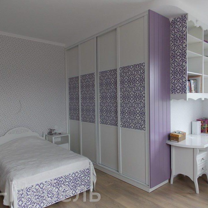Крашенный шкаф МДФ, белая эмаль. Изготовление на заказ