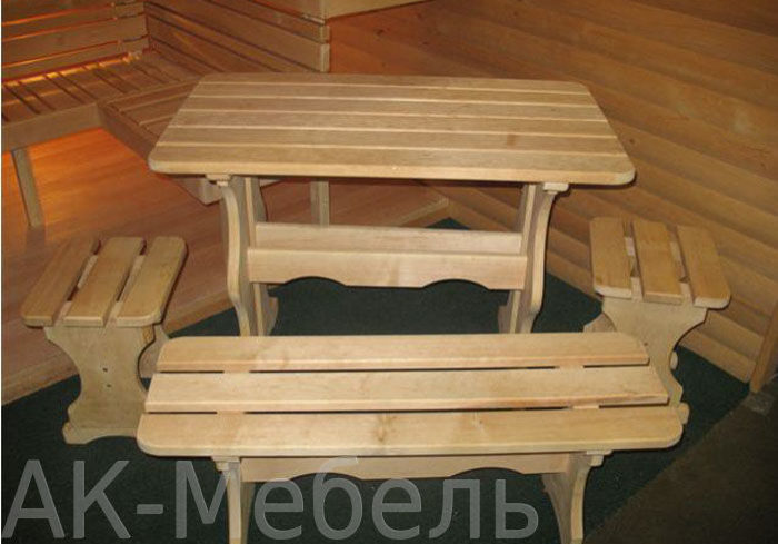 Недорогой набор мебели для бани и сауны