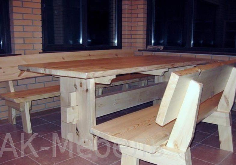 Стол и лавки для бани и сауны