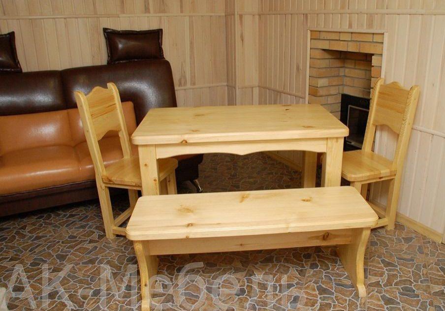 Набор деревянной мебели на заказ, для бани и сауны