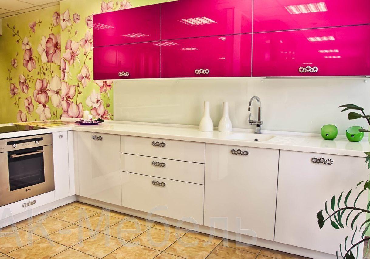 Глянцевая кухня, два цвета