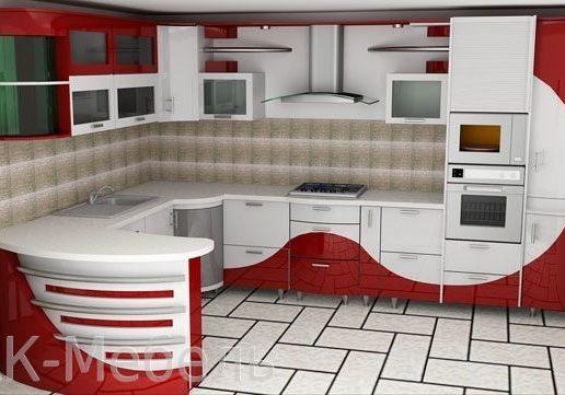 Необычная кухня с островом