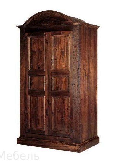 Распашной шкаф из массива сосны