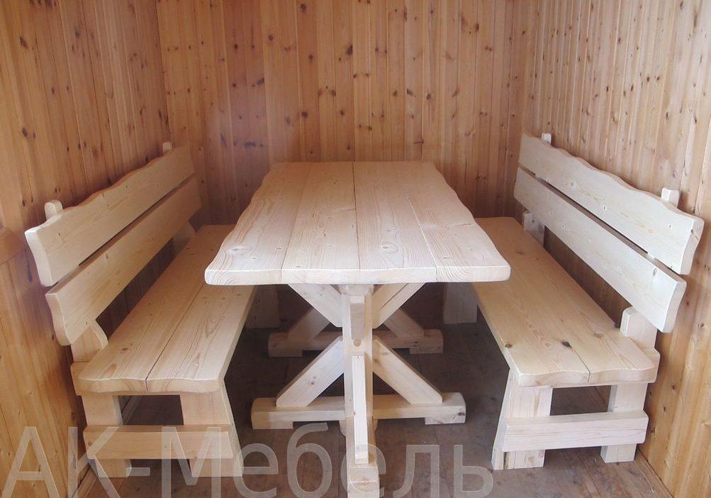Дешевая мебель из дерева для бани и сауны