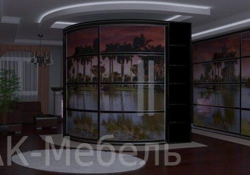 Большой радиусный шкаф