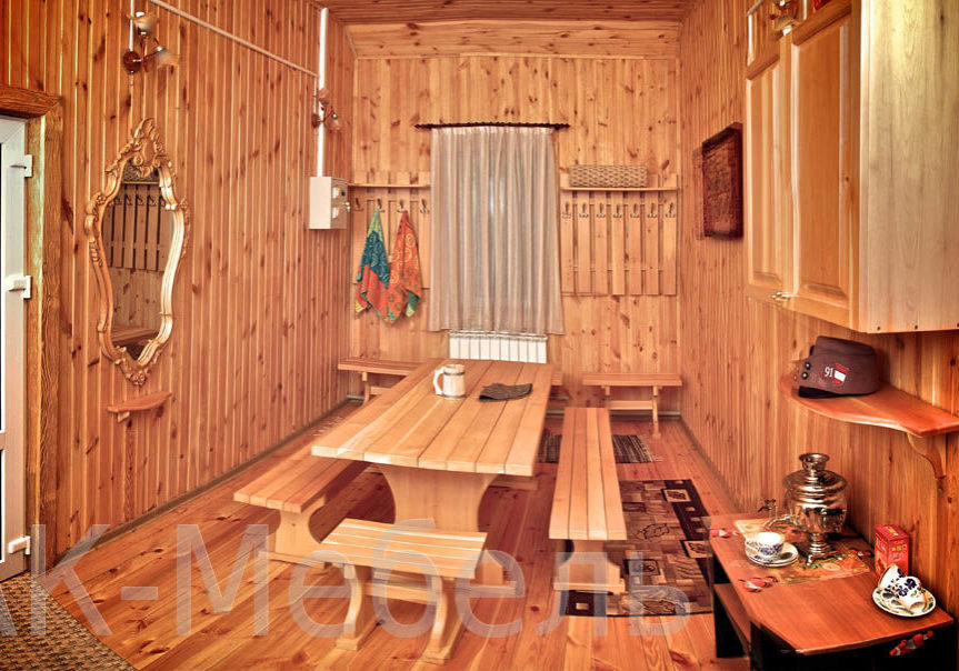Заказать изготовление мебели для бани и сауны