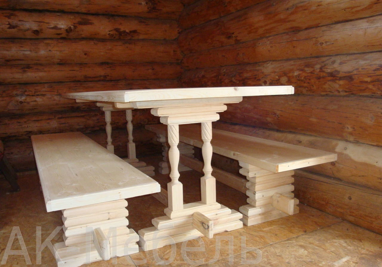 Недорогой набор мебели в банюи сауну