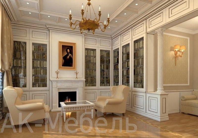 Шкафы из МДФ для книг, гостиная, рабочий кабинет