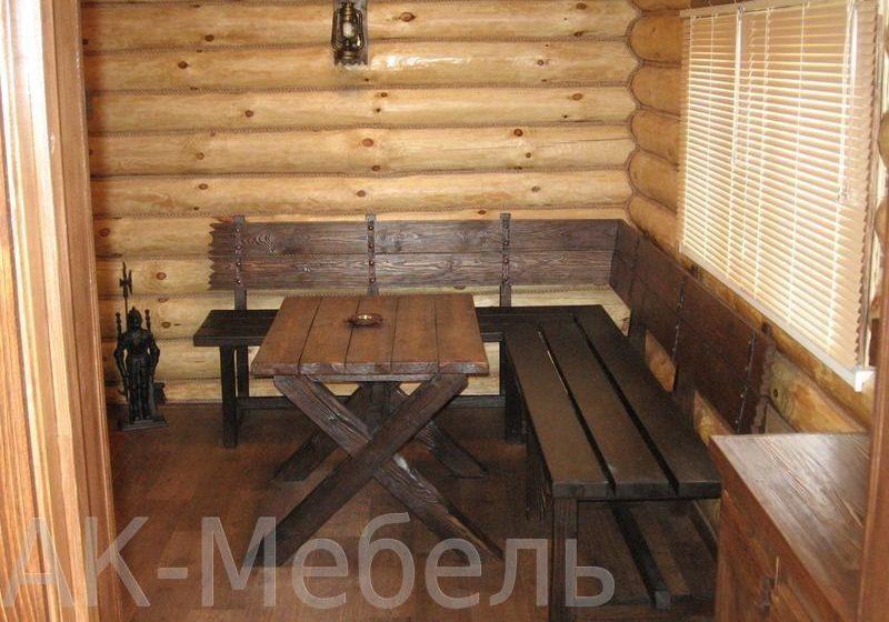 Недорогой набор мебели из массива для бани и сауны