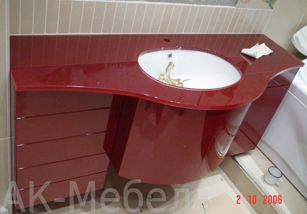 Глянцевая мебель для ванной