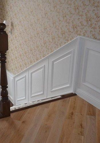 Стеновые панели для деревянной лестницы