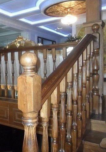 Лестница из дуба на тетиве