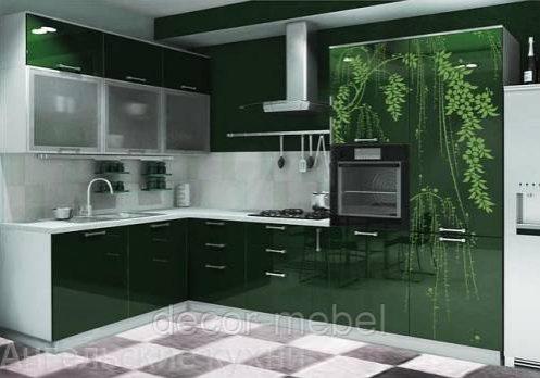Кухня с рисунком, необычный дизайн