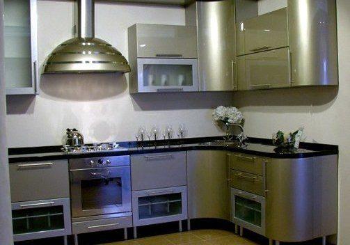 Кухня стального цвета
