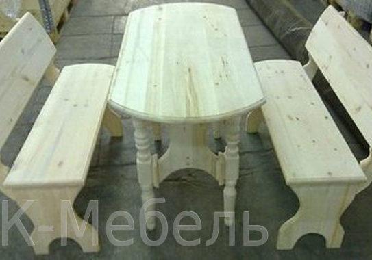 Недорогая мебель из массива для сауны