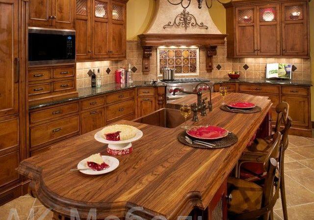 Фото деревянной кухни массив ясеня