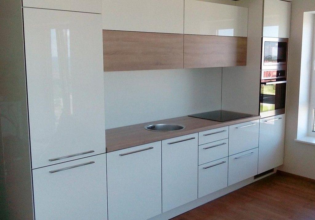 Белая кухня глянец