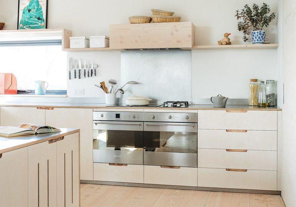 Белая кухня из фанеры на заказ