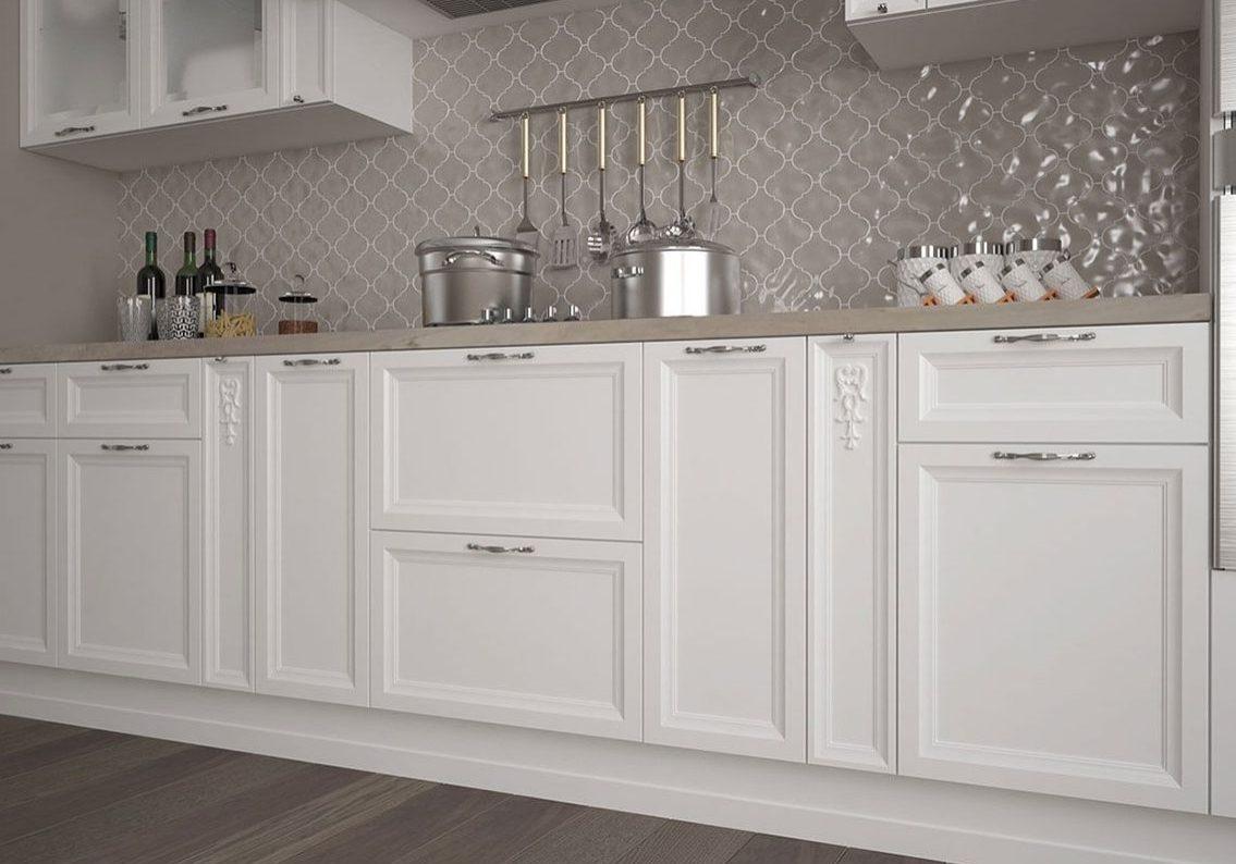 Белая кухня МДФ эмаль