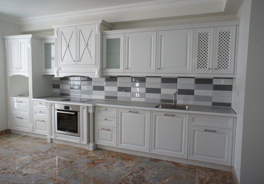 Белая кухня МДФ эмаль под заказ