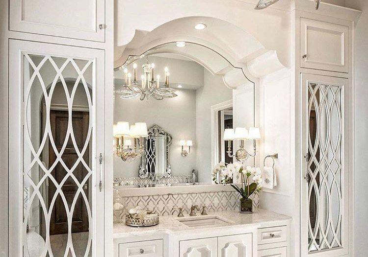 Белая мебель в ванную комнату, под заказ