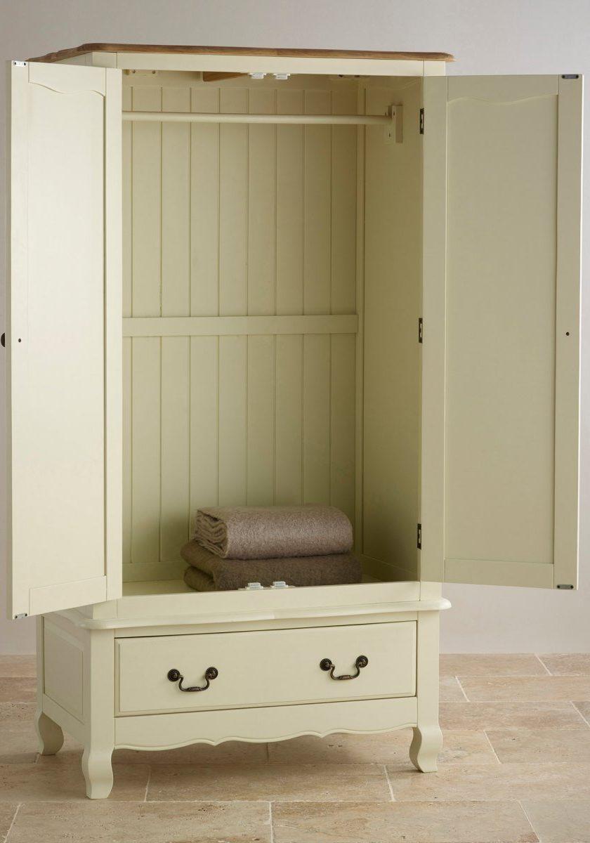 Шкаф двухдверный из МДФ, для одежды с одним ящиком, открытый