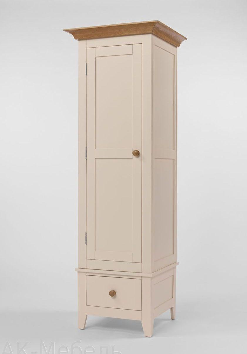 Однодверный шкаф из МДФ крашенный под эмаль