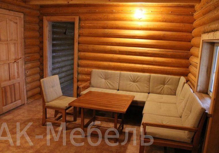 Недорогая деревянная мебель для бани и сауны