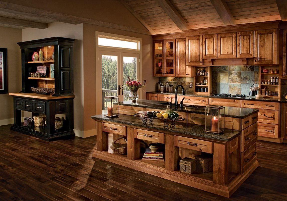 Деревянная кухня на заказ из березы
