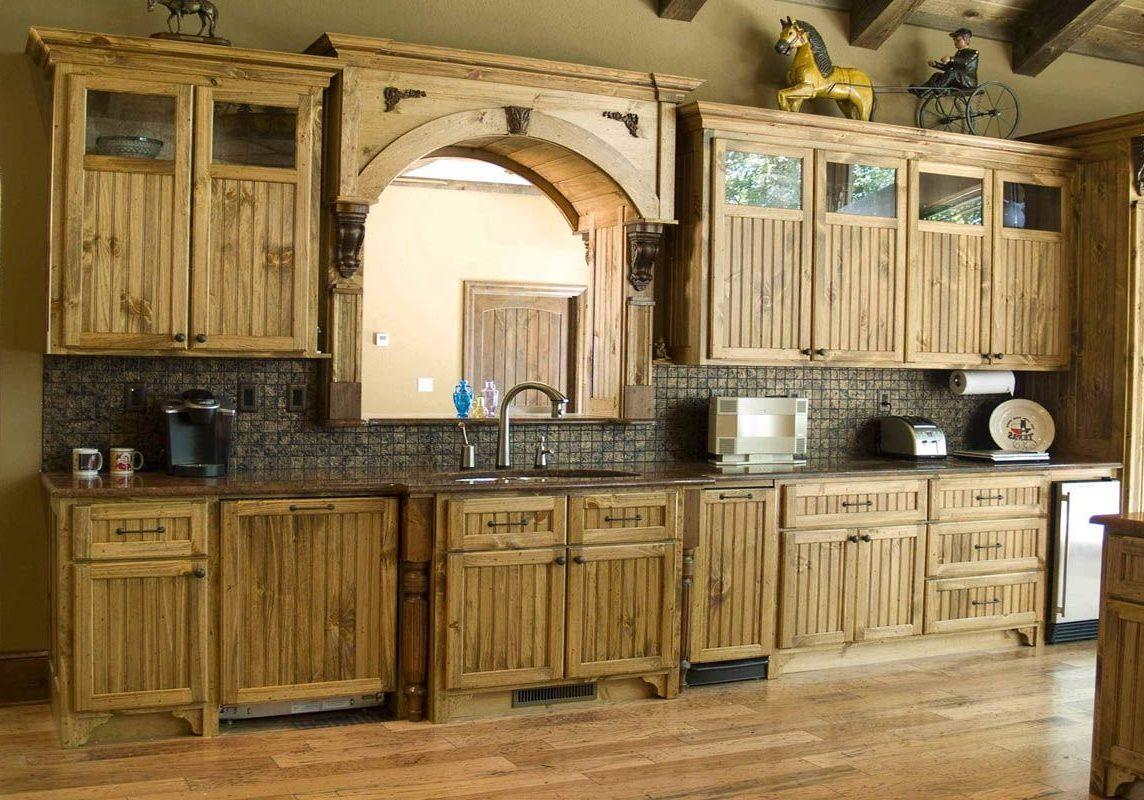 Деревянная кухня на заказ из дуба