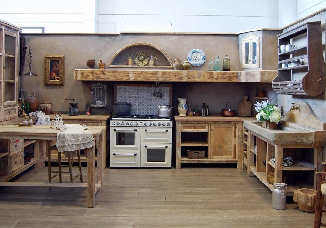 Деревянная кухня на заказ, стиль кантри