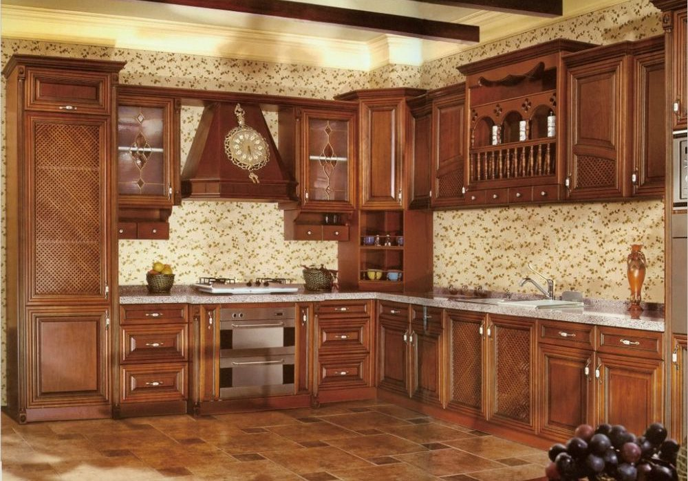 Деревянная кухня под заказ в Москве