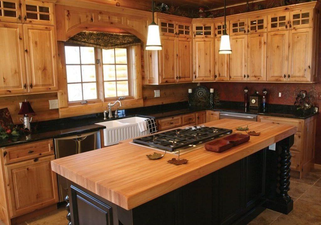 Деревянная кухня сосна, береза на заказ